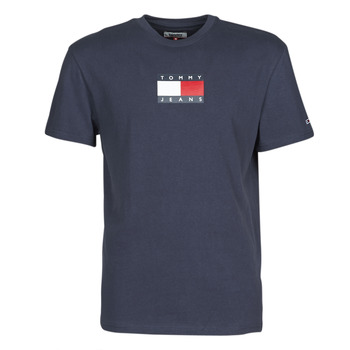 Clothing Men Short-sleeved t-shirts Tommy Jeans TJM SMALL FLAG TEE Marine