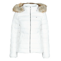 Clothing Women Duffel coats Tommy Jeans TJW BASIC HOODED DOWN JACKET White