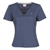 Clothing Women Short-sleeved t-shirts Tommy Jeans TJW SLIM JERSEY V NECK Marine