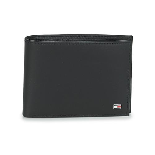 Bags Men Wallets Tommy Hilfiger ETON CC AND COIN POCKET Black