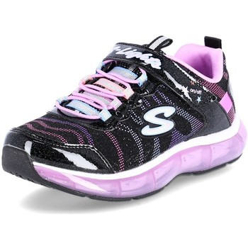Shoes Children Low top trainers Skechers Light Sparks Black,Pink