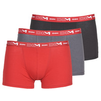 Underwear Men Boxer shorts DIM COTON STRETCH Grey / Red / Black