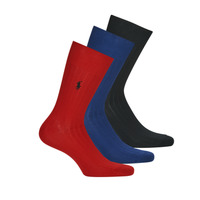 Shoe accessories Men Socks Polo Ralph Lauren ASX92 EGYPTIAN COTTON Marine / Black / Red