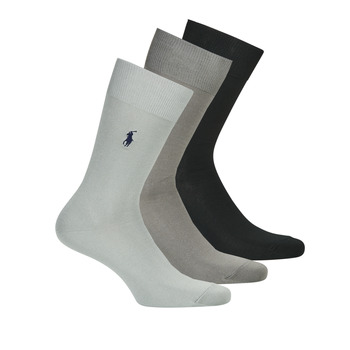 Shoe accessories Men Socks Polo Ralph Lauren ASX91 MERCERIZED COTTON Marine / Grey / Grey