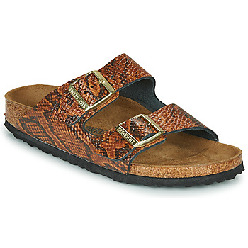 Shoes Women Mules Birkenstock ARIZONA Snake / Brown