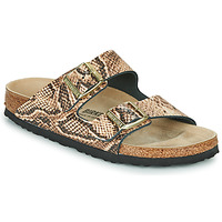 Shoes Women Mules Birkenstock ARIZONA Snake / Beige