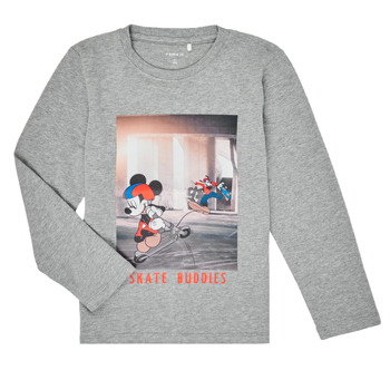 Clothing Boy Long sleeved tee-shirts Name it NMMMICKEY EMIL Grey