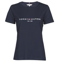Clothing Women Short-sleeved t-shirts Tommy Hilfiger NEW TH ESS HILFIGER C-NK TEE SS Marine