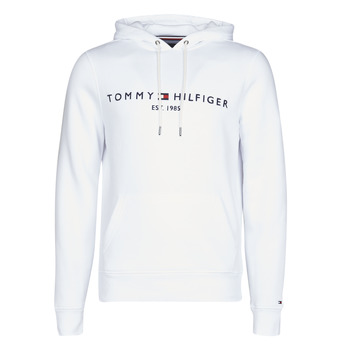 Clothing Men Sweaters Tommy Hilfiger TOMMY LOGO HOODY White
