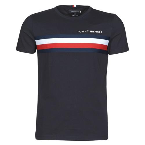 Clothing Men Short-sleeved t-shirts Tommy Hilfiger GLOBAL STRIPE TEE Marine