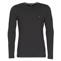 Clothing Men Long sleeved tee-shirts Tommy Hilfiger STRETCH SLIM FIT LONG SLEEVE TEE Black