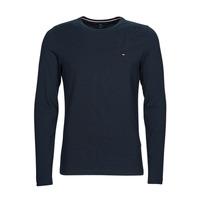 Clothing Men Long sleeved tee-shirts Tommy Hilfiger STRETCH SLIM FIT LONG SLEEVE TEE Black