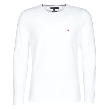 Clothing Men Long sleeved tee-shirts Tommy Hilfiger STRETCH SLIM FIT LONG SLEEVE TEE White