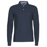 Clothing Men long-sleeved polo shirts Tommy Hilfiger HILFIGER SLIM LS POLO Marine