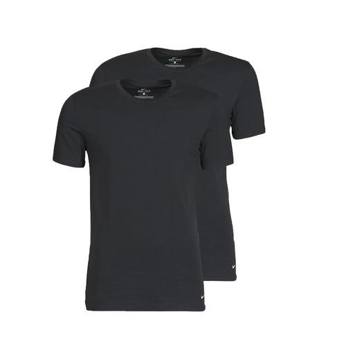 Clothing Men Short-sleeved t-shirts Nike EVERYDAY COTTON STRETCH Black
