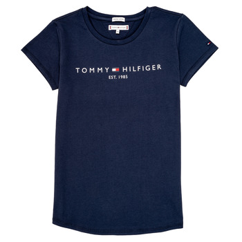 Clothing Girl short-sleeved t-shirts Tommy Hilfiger KG0KG05242-C87 Marine