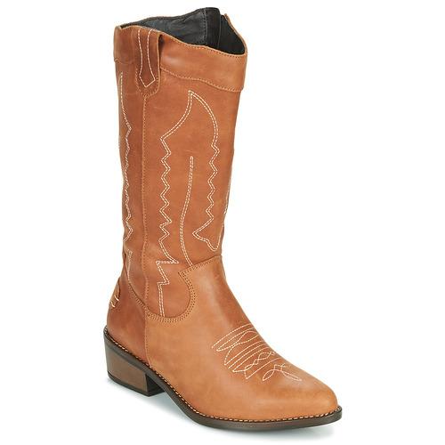 Shoes Women High boots Musse & Cloud TEDINA Cognac