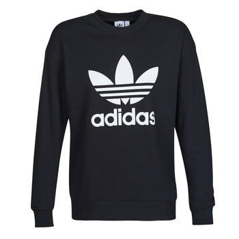 Clothing Women sweaters adidas Originals TRF CREW SWEAT Black