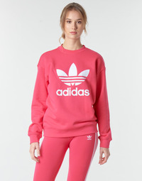 Clothing Women Sweaters adidas Originals TRF CREW SWEAT Pink