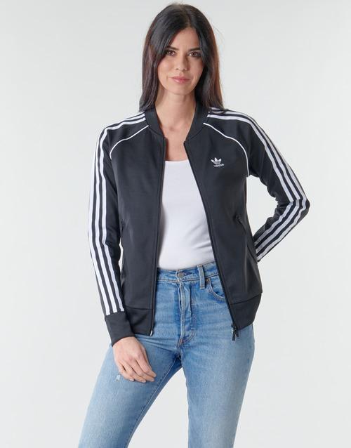 Clothing Women Track tops adidas Originals SST TRACKTOP PB Black