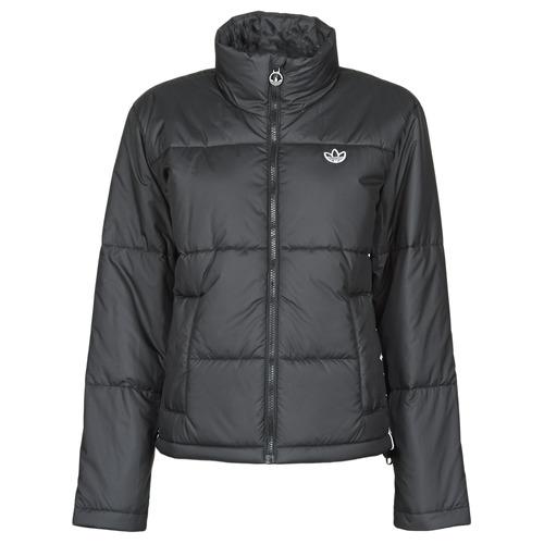 Clothing Women Duffel coats adidas Originals SHORT PUFFER Black