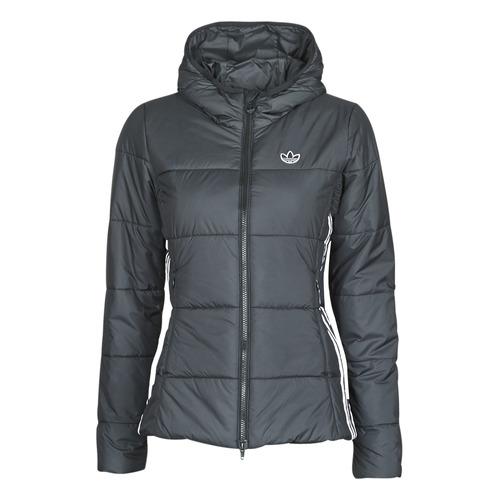 Clothing Women Duffel coats adidas Originals SLIM JACKET Black