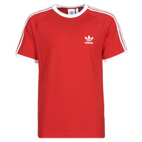 Clothing Men Short-sleeved t-shirts adidas Originals 3-STRIPES TEE Scarlet