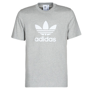 Clothing Men Short-sleeved t-shirts adidas Originals TREFOIL T-SHIRT Grey / Medium