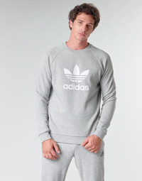 Clothing Men Sweaters adidas Originals TREFOIL CREW Grey