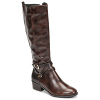 Shoes Women High boots Moony Mood NELLE Brown