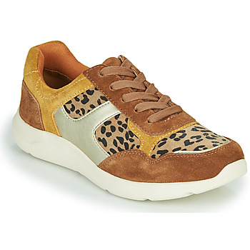 Shoes Women Low top trainers Damart 62328 Beige / Yellow