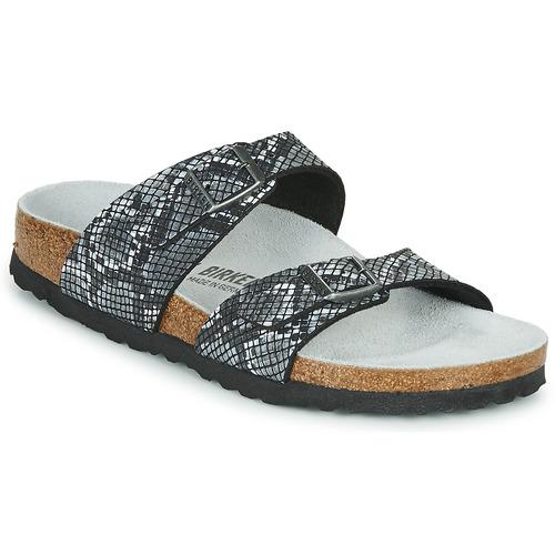 Shoes Women Mules Birkenstock SYDNEY Python /  black