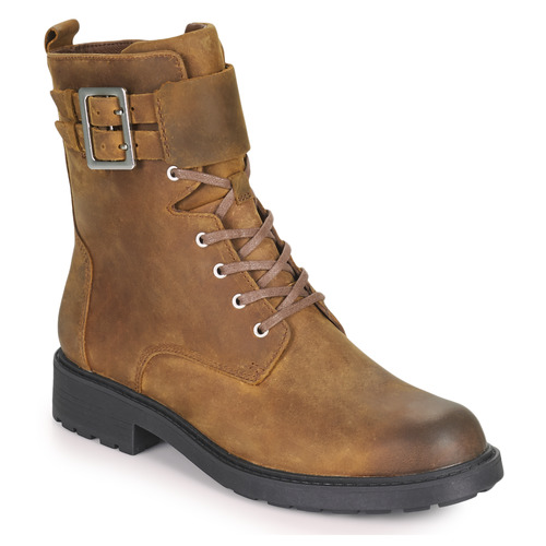 Shoes Women Mid boots Clarks Orinoco2 Lace Brown