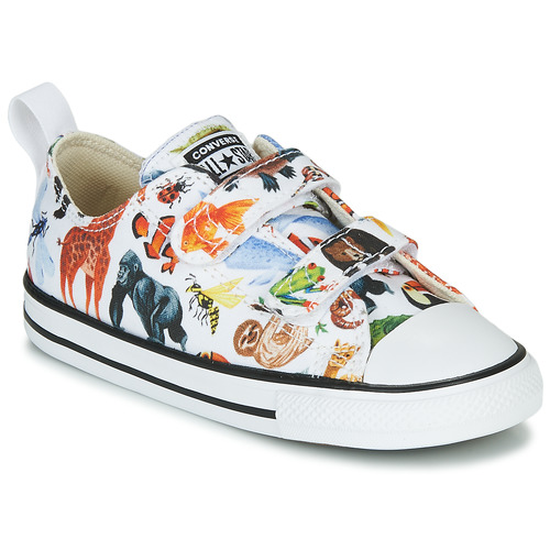 Shoes Children Low top trainers Converse CHUCK TAYLOR ALL STAR 2V - OX White / Multicoloured