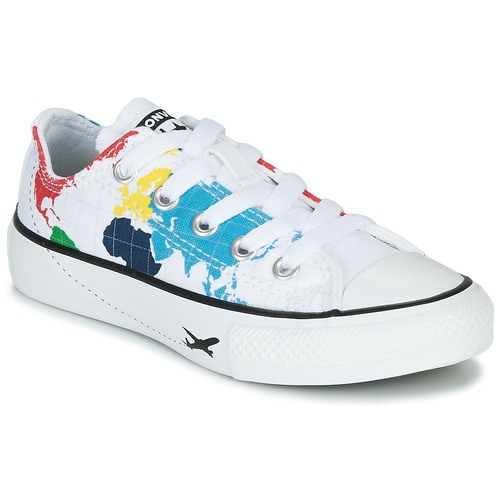 Shoes Children Low top trainers Converse CHUCK TAYLOR ALL STAR - OX White / Multicoloured