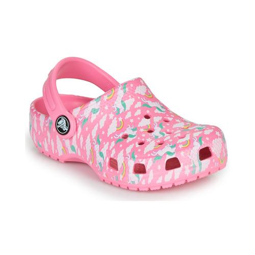 Shoes Girl Clogs Crocs CLASSIC PRINTED CLOG K Pink