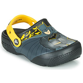Shoes Boy Clogs Crocs CROCS FL ICONIC BATMAN CLOG  black / Yellow
