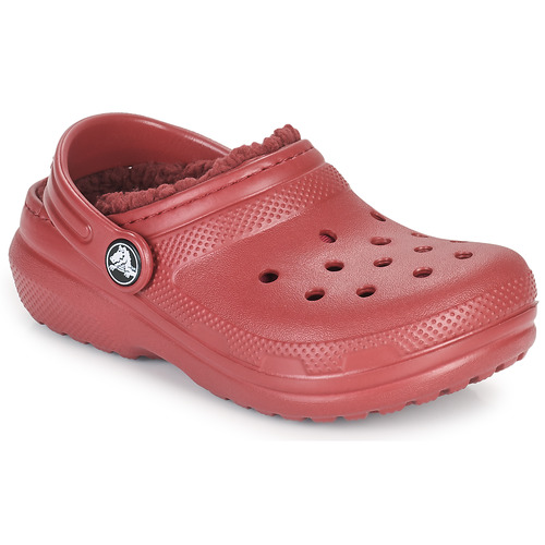 Shoes Children Clogs Crocs CLASSIC LINED CLOG K Red