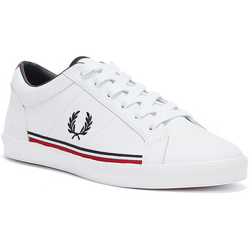 Shoes Men Fitness / Training Fred Perry Baseline Perf Leather Mens White Trainers White