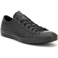 Shoes Men Low top trainers Converse All Star OX Mens Black Leather Trainers Black