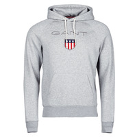 Clothing Men Sweaters Gant GANT SHIEL HOODIE Grey