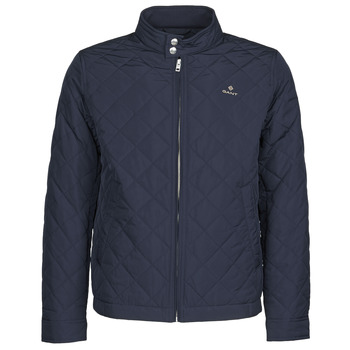 Clothing Men Jackets Gant QUILTED WINDCHEATER Marine