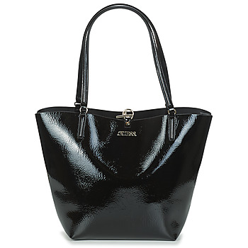 Bags Women Shopping Bags / Baskets Guess ALBY TOGGLE TOTE Black