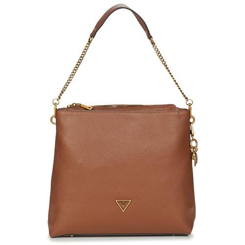 Bags Women Small shoulder bags Guess DESTINY HOBO Cognac