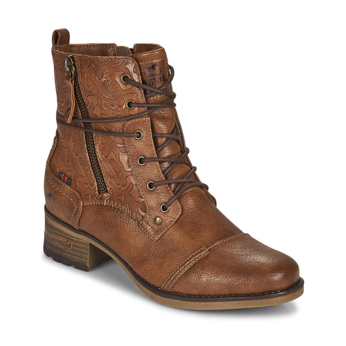 Shoes Women Mid boots Mustang 1229508 Cognac