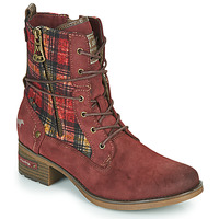 Shoes Women Mid boots Mustang 1229512 Bordeaux