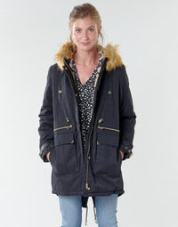 Clothing Women Parkas Kaporal LOFTY Black