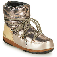 Shoes Women Snow boots Moon Boot LOW SAINT MORITZ WP Silver