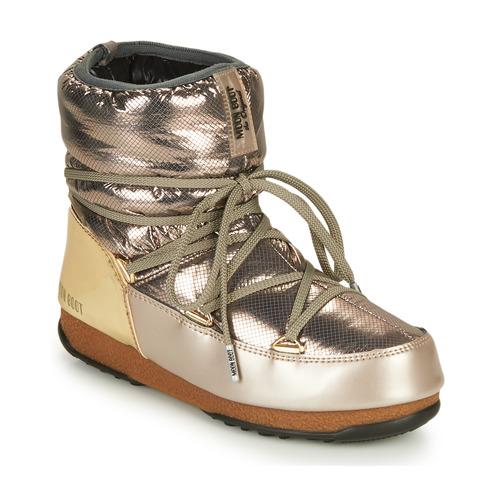 Shoes Women Snow boots Moon Boot LOW SAINT MORITZ WP Silver