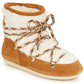 Shoes Women Snow boots Moon Boot DARK SIDE LOW SHEARLING Camel / White